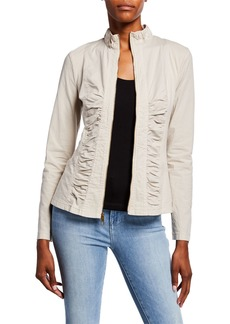XCVI Agnese Ruched Lace-Up Jacket