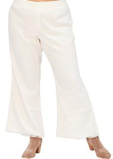 XCVI Arrin Twill Wide Leg Fray Hem Pants (Plus Size)