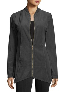 XCVI Asymmetrical Velour Jacket