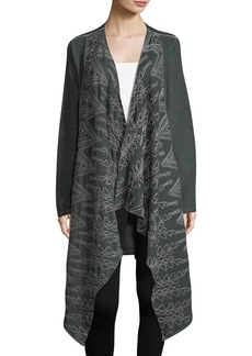 XCVI Averi Embroidered Drape-Front Coat