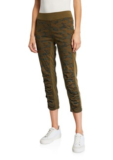 XCVI Camo Jetter Cropped Leggings