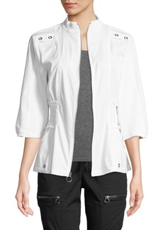 XCVI Claude 3/4-Sleeve Zip-Front Jacket