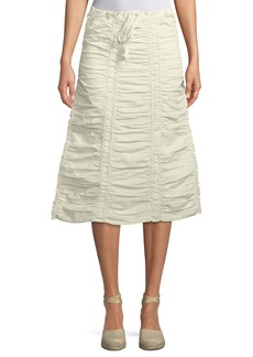 XCVI Double Shirred Paneled Skirt