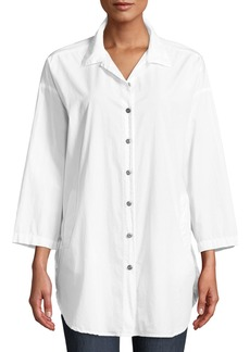 XCVI Elin Bracelet-Sleeve Button-Front Tunic