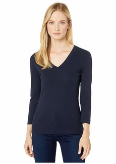 XCVI Essentials Ioda Long Sleeve V-Neck 1x1 Rib Tee