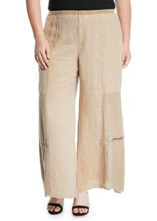XCVI Hansel Paneled Wide-Leg Pants  Plus Size