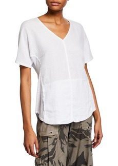 XCVI Haystack Split-Back Slub Shirt