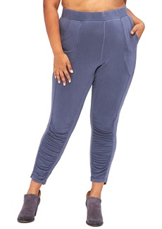 XCVI Huckle Ruched Ankle Crop Leggings (Plus Size)
