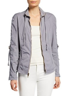 XCVI Kiri Ruched Zip-Front Jacket
