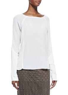 XCVI Long-Sleeve Crepe Blouse  Plus Size