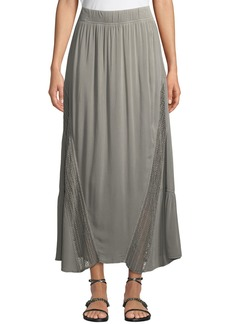 XCVI Moe-Lace Inset Voile Maxi Skirt