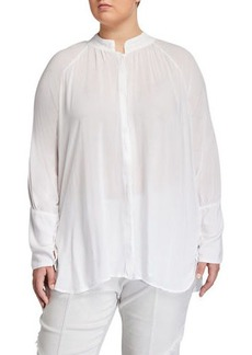 XCVI Plus Size Ester Georgette Blouse