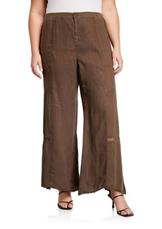 XCVI Plus Size Hansel Paneled Wide-Leg Pants