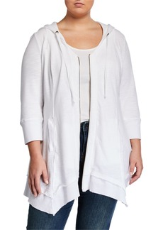 XCVI Plus Size Merchantile Sharkbite Hooded Jacket