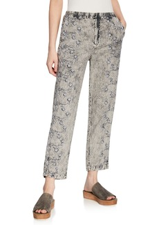 XCVI Riviera Floral Faded Trousers