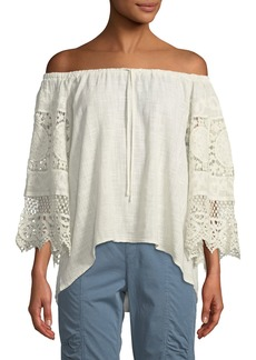 XCVI Sake Off-The-Shoulder Lace Blouse