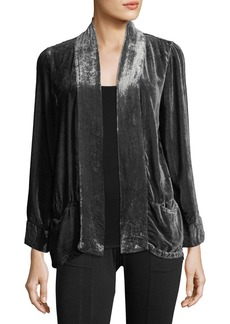 XCVI Silk Velvet Burnout Cardigan
