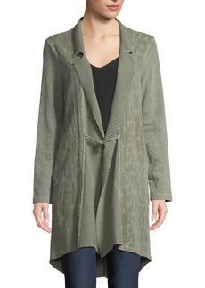XCVI Sinclair Textured Toggle-Front Long-Sleeve Jacket