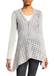 XCVI Slope Cotton Cutout Sweater