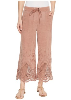 XCVI Tangerine Embroidered Gauze Pants