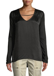 XCVI Trisha Tie-Dye Long-Sleeve Top