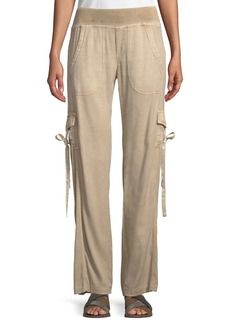 XCVI Vroni Relaxed Cargo Pants with Grommet & Tie Detail