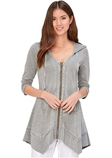 XCVI Wearables Burnout Merchantile Hoodie in French Terry