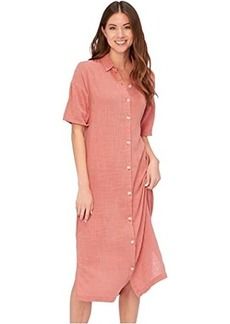 XCVI Wearables Gael Shirtdress in Cocoon Gauze