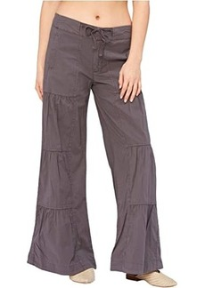 XCVI Wearables Terraced Wide Leg Stretch Poplin Pants
