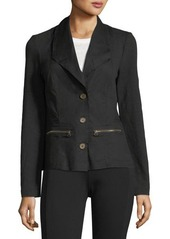 XCVI Bella Three-Button Peplum Blazer