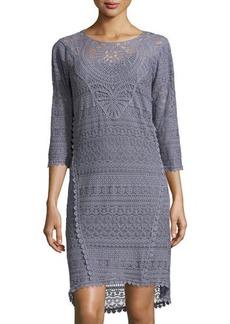 XCVI Delaney Crochet 3/4-Sleeve Dress