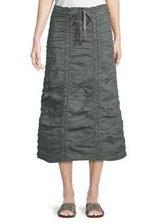 XCVI Double Shirred Paneled Skirt
