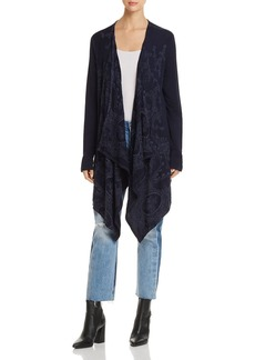 XCVI Draped Open-Front Cardigan