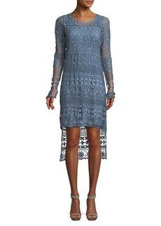 XCVI Fonda Crochet Illusion High-Low Dress