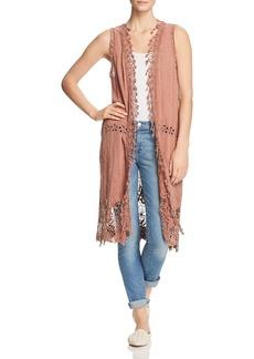 XCVI Gauze Crochet Duster Vest