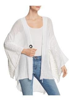XCVI Gauze Crochet Kimono