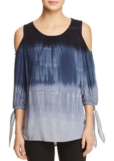 XCVI Hadley Tie-Dye Cold-Shoulder Blouse