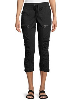 XCVI Kahiwa Ruched-Side Cropped Cargo Pants