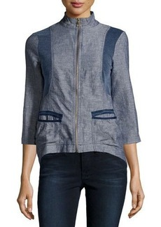 XCVI Kylie High-Low Zip Jacket