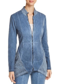 XCVI Mixed Media Zip-Front Jacket