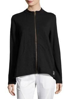 XCVI Paloma Zip-Front Knit Jacket