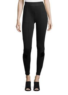 XCVI Silk-Blend Pocketed Leggings