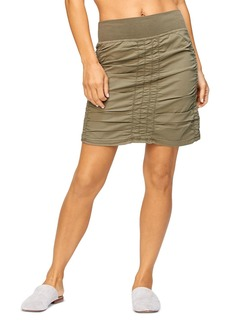 XCVI Solid Trace Short Skirt