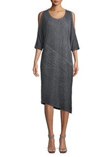 XCVI Trella Cold-Shoulder Midi Dress