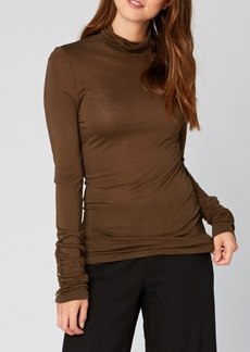 Xcvi Wearables Button Duff T Neck Top