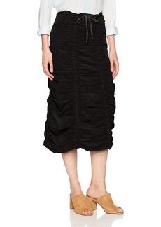 XCVI Wearables Women's Corduroy Shirred Panel Skirt-Soft Cord  Extra Small