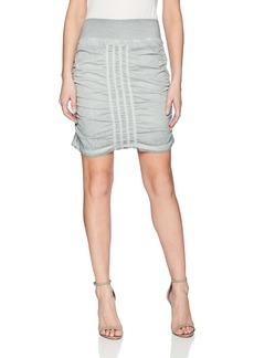 XCVI Wearables Women's W Solid Trace Skirt-Stretch Poplin