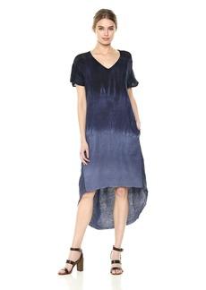 XCVI Women's Harmony Dress-Pinstripe Linen Myrtle wash: Navy
