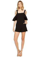 XOXO Cold Shoulder Ruffle Sleeve Romper