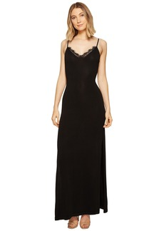 XOXO Lace Trim Long Sweater Dress